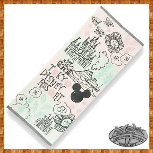 フェイスタオル・ミッキーシルエット・TOKYO DISNEY RESORT・イラスト・シンプルかわいい、生活雑貨♪ 20170915新作